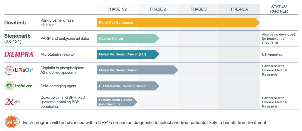 Allarity Therapeutics Pipeline